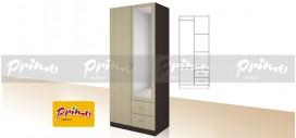 PRIMO 5 - Двукрилен гардероб с чекмеджета и огледало