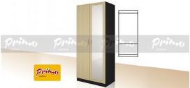 PRIMO 9 - Двукрилен гардероб с огледало