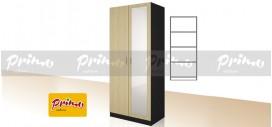 PRIMO 10 - Двукрилен гардероб с огледало