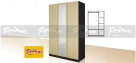 PRIMO 12 - Трикрилен гардероб с огледало