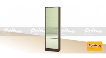 PRIMO 44 - Шкаф за обувки с 4 врати с огледало