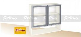 МОДУЛ PG 6 - Горен шкаф с две витрини и ниша *(цената е за ширина 800мм)